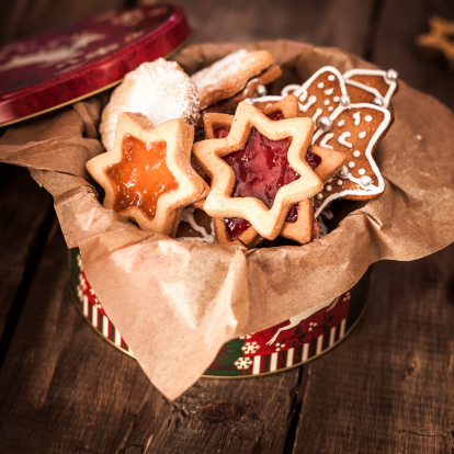 Gingerbread Cookie「Decorated Holiday Christmas Cookies And Biscuits」:スマホ壁紙(1)