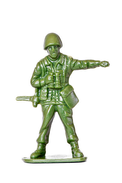 Generic toy soldier isolated on white:スマホ壁紙(壁紙.com)