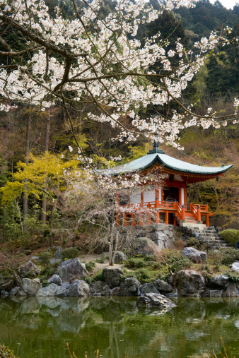 桜「Bentendo temple and Cherry blossoms」:スマホ壁紙(13)