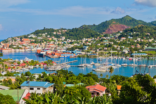 St「St. George's Harbor, Grenada W.I.」:スマホ壁紙(6)