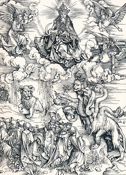 Horned「'The Seven-Headed Beast and the Beast with Lamb`s Horns', 1498 (1906).  Artist: Albrecht Durer.」:写真・画像(2)[壁紙.com]