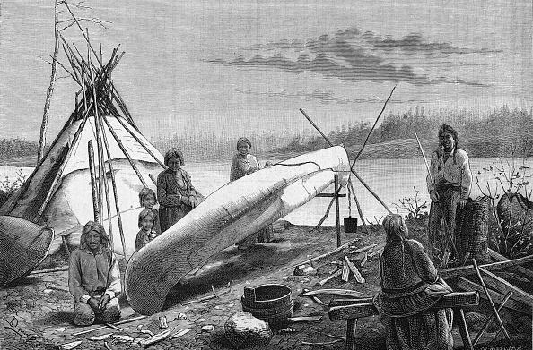 Plant Bark「Ojibwe Repairing A Canoe」:写真・画像(16)[壁紙.com]