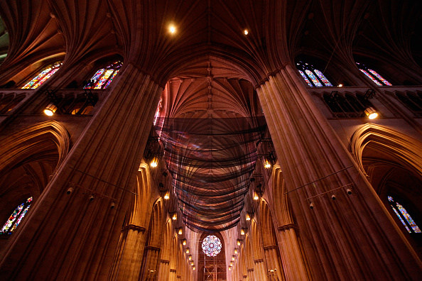 Construction Equipment「National Cathedral Installs Safety Nets In Wake Of Damage Resulting From Earthquake」:写真・画像(3)[壁紙.com]