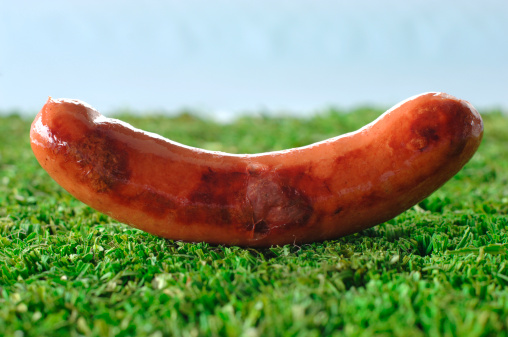 Red Meat「German Bratwurst, fried sausage, close-up」:スマホ壁紙(2)