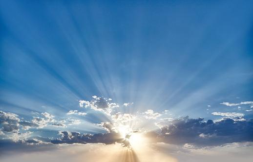 Sunlight「Sunset behind Clouds」:スマホ壁紙(10)