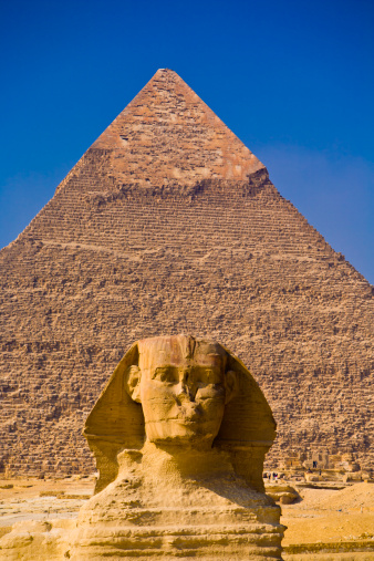 Pyramid Shape「Great Sphinx and Great Pyramid, Egypt」:スマホ壁紙(17)