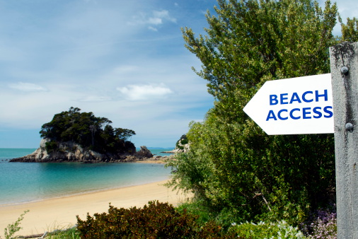 New Zealand Culture「Beach Access on Kaiteriteri, Spring」:スマホ壁紙(8)