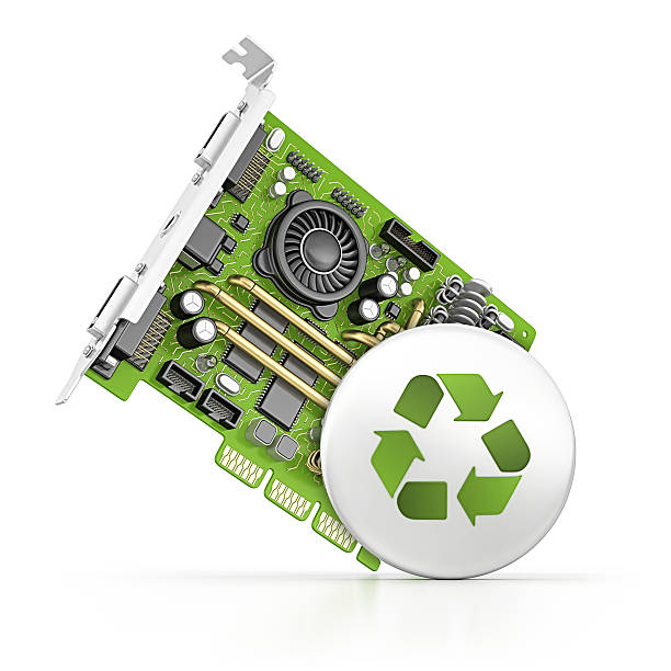 computer part and recycling button:スマホ壁紙(壁紙.com)