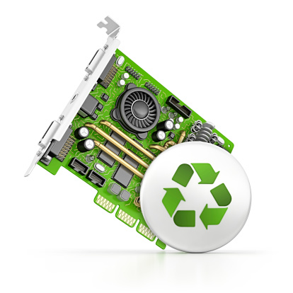 Mother Board「computer part and recycling button」:スマホ壁紙(2)