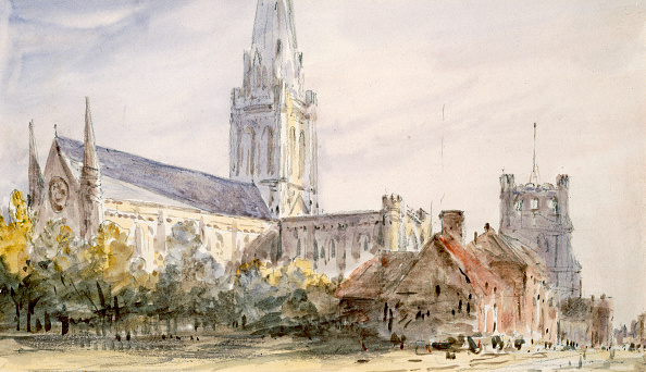 18th Century「Chichester Cathedral' Sussex circa 1796-1837」:写真・画像(15)[壁紙.com]