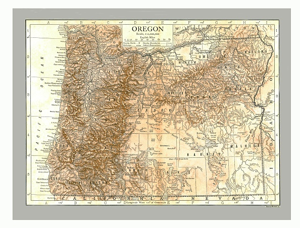 Land「Map Of Oregon」:写真・画像(11)[壁紙.com]
