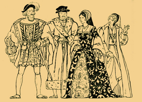 Generic - Description「Elizabethan England - typical costumes from the reign of Queen Elizabeth I, with two men and two women.」:写真・画像(18)[壁紙.com]
