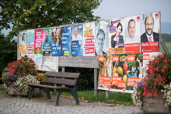Placard「Germans Go The Polls In Federal Elections」:写真・画像(1)[壁紙.com]