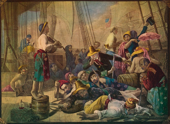 Basil「Pirates Decoying An American Ship, Circa 1880」:写真・画像(0)[壁紙.com]