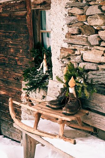 ノスタルジック「クリスマスの装飾」:スマホ壁紙(13)