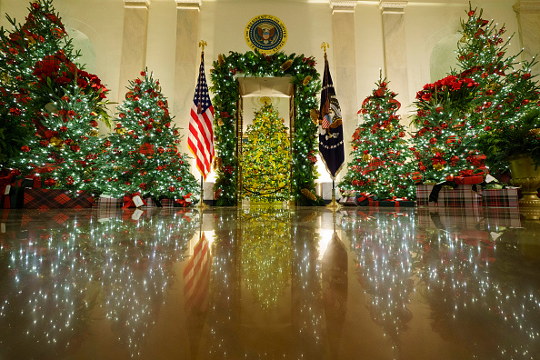 Christmas Decoration「White House Holds Press Preview For Its Christmas Décor」:写真・画像(8)[壁紙.com]