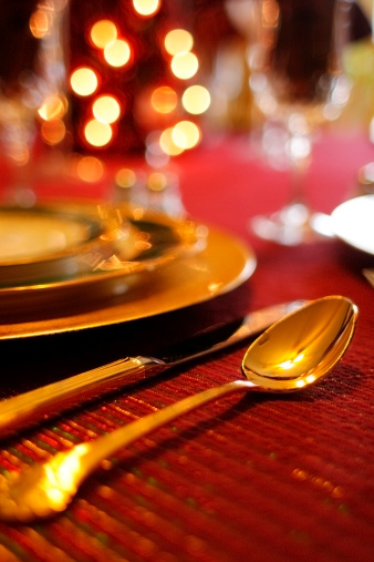 Place Setting「Christmas Dinner: Place Setting With Table Decorations」:スマホ壁紙(9)