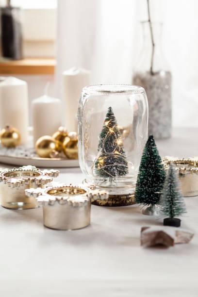 Christmas decoration on table:スマホ壁紙(壁紙.com)