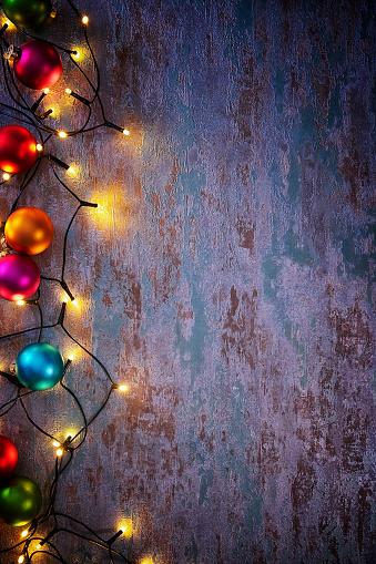 Christmas Lights「Christmas Decoration with Ornaments and Holiday Lights」:スマホ壁紙(9)