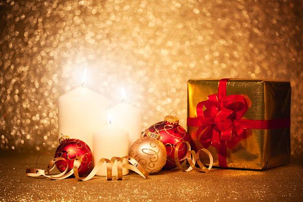 Christmas Decoration with Gift Box:スマホ壁紙(壁紙.com)