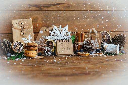 カレンダー「Christmas decorations and food decoration」:スマホ壁紙(18)