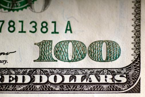 American One Hundred Dollar Bill「US one hundred dollar bill, close-up」:スマホ壁紙(11)