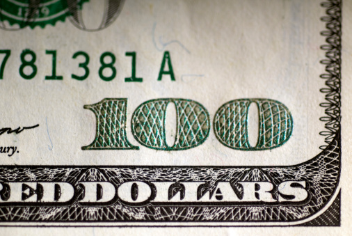 American One Hundred Dollar Bill「US one hundred dollar bill, close-up」:スマホ壁紙(8)