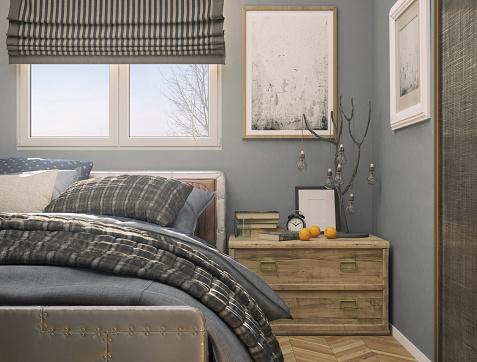Curtain「Cozy Tiny Bedroom」:スマホ壁紙(12)