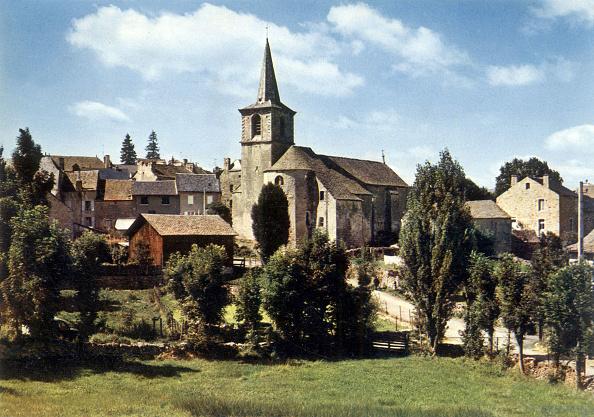 Church「Aumont-Aubrac, France : the church, postcard c. 1960」:写真・画像(13)[壁紙.com]