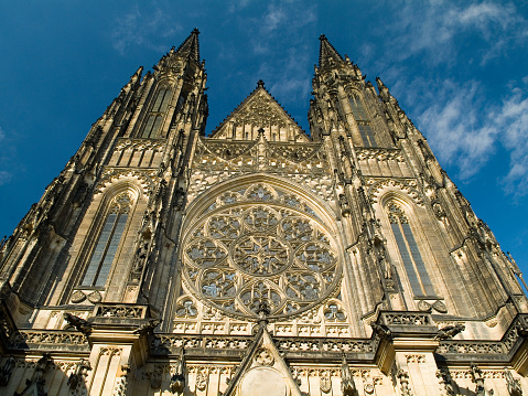 St Vitus's Cathedral「Facade of St. Vitus Cathedral in Prague Castle」:スマホ壁紙(0)