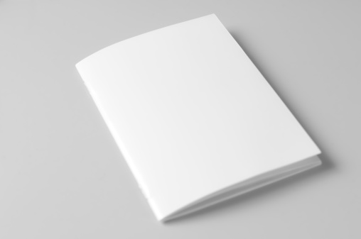 Report - Document「Blank brochure on white background」:スマホ壁紙(10)
