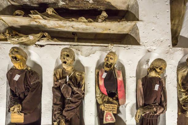 Convento (Monastery) dei Cappuccini, the Catacombe dei Cappuccini (Catacombs of the Capuchin Monks), detail:スマホ壁紙(壁紙.com)