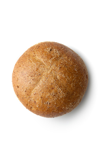 Bun - Bread「Bread: Bun Isolated on White Background」:スマホ壁紙(19)