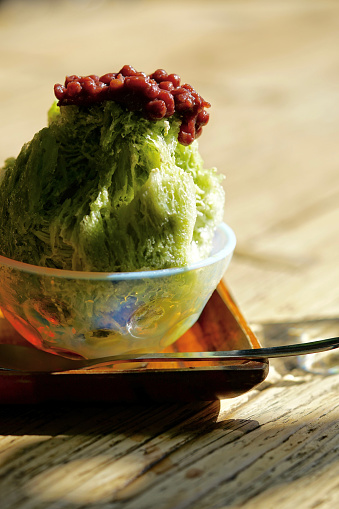 かき氷「Kakigori with Maccha Azuki (Green Tea and Red Beans)」:スマホ壁紙(16)