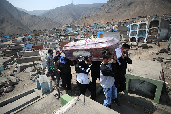Place of Burial「Cases of Coronavirus and Deaths Surge in Peru: Burials At Comas Cemetery」:写真・画像(18)[壁紙.com]