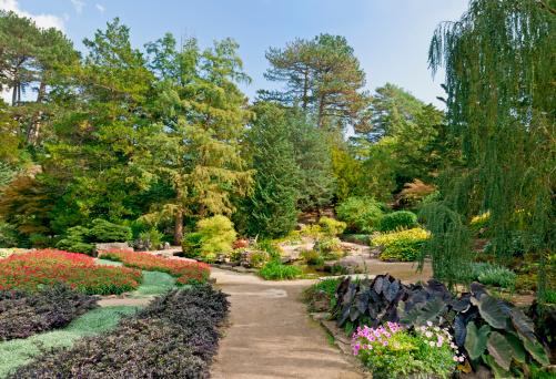 観賞用庭園「上質なデザインの庭園の眺め」:スマホ壁紙(10)