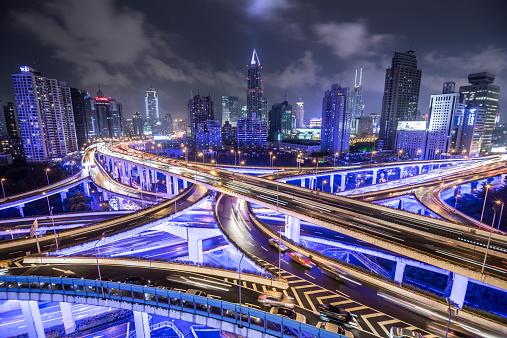Neon「Shanghai Highway 夜」:スマホ壁紙(2)