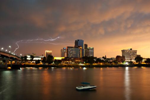 アーカンソー川「Storm over Little Rock, Arkansas」:スマホ壁紙(12)