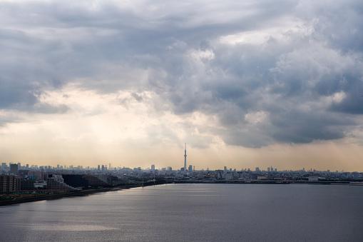 東京都中央区「千葉の都市スカイライン」:スマホ壁紙(2)