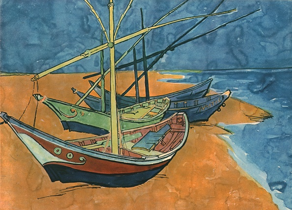 Camargue「Sailing Boats On The Beach At Les Saintes-Maries」:写真・画像(2)[壁紙.com]