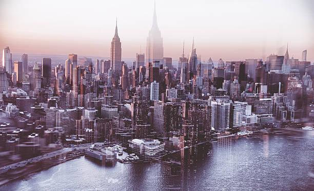 New York City aerial view skyline of empire state building:スマホ壁紙(壁紙.com)