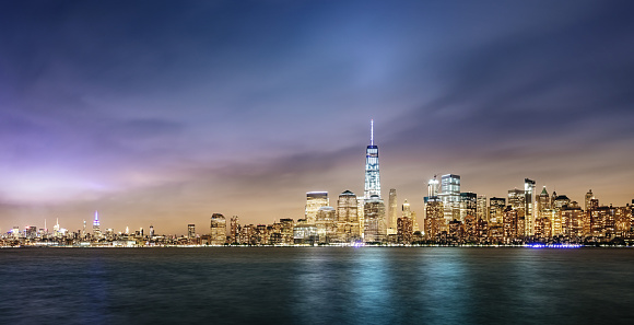 New Jersey「New York City Cityscape Panorama」:スマホ壁紙(13)