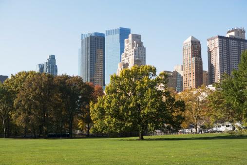 Central Park - Manhattan「USA, New York City, View of Central Park with Manhattan skyline in background」:スマホ壁紙(18)