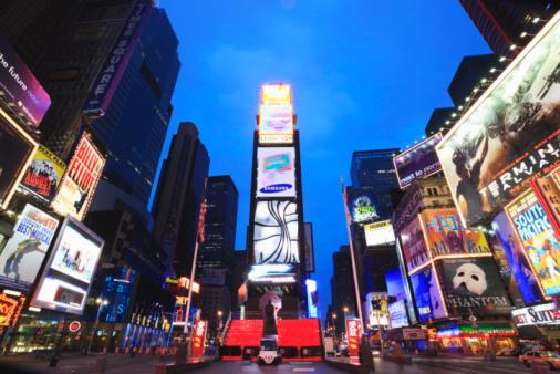 New York City「New York City, Times Square at dusk」:スマホ壁紙(17)