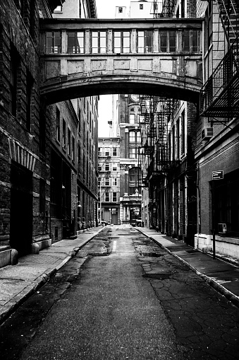 Footbridge「New York City - alley in Tribeca district」:スマホ壁紙(12)