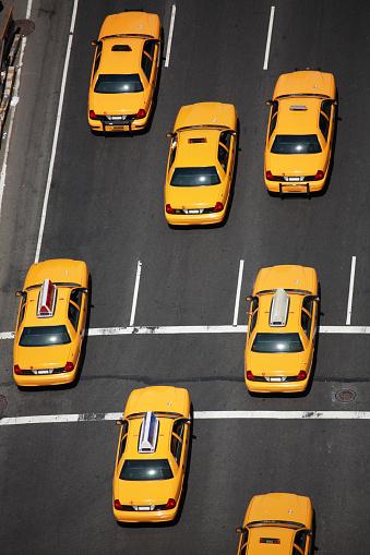 交通量「ニューヨークシティタクシー-空からの眺め」:スマホ壁紙(10)