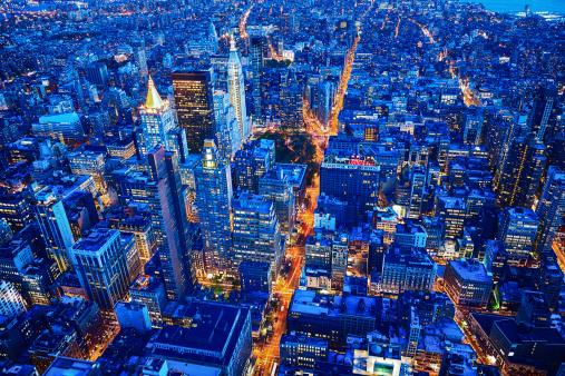 Avenue「New York City skyline, Manhattan, USA」:スマホ壁紙(18)