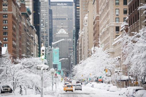 Snowdrift「USA, New York City, Park Avenue in winter」:スマホ壁紙(12)