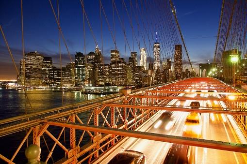 Multiple Exposure「New York City Skyline and traffic」:スマホ壁紙(18)