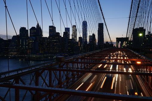 Multiple Exposure「New York City Skyline and traffic」:スマホ壁紙(16)